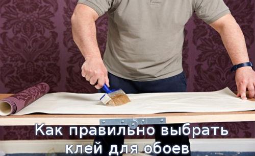 Как правильно выбрать клей для обоев