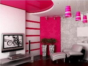 Розовый и Фиолетовый в интерьере