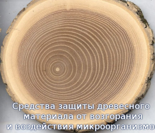 Средства защиты древесного материала от возгорания и воздействия микроорганизмов