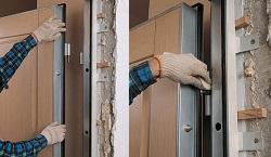 Как вставлять железную дверь