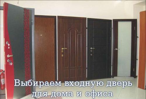 Выбираем входную дверь для дома и офиса